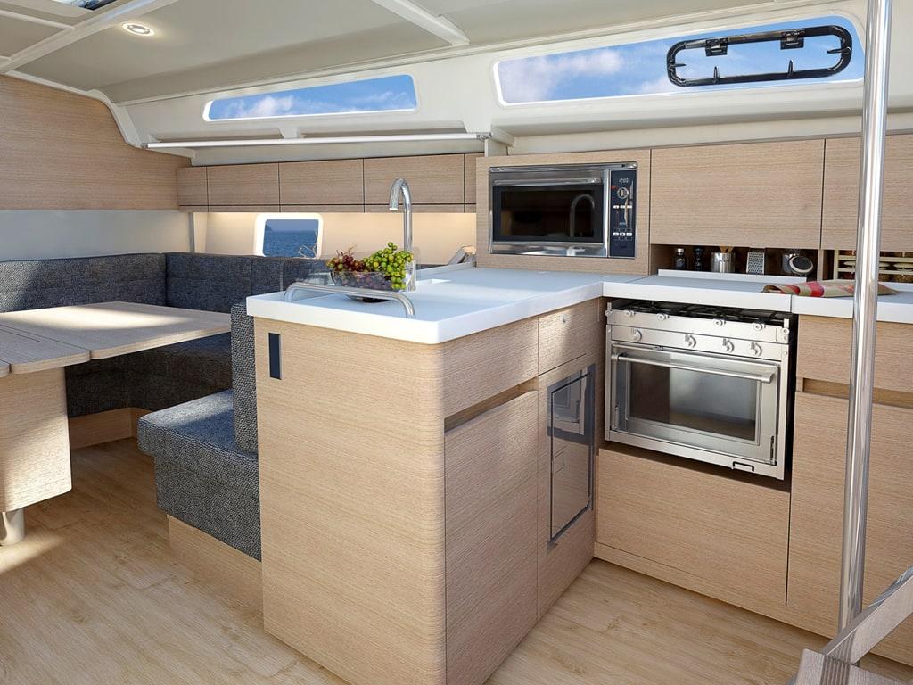 Segelyacht Hanse 348 küchen